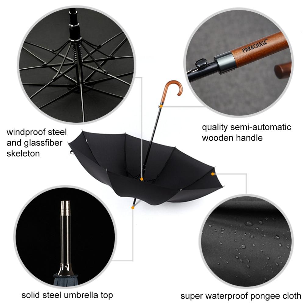 d751caef2d31 Japanese Windproof Wooden Handle Long Umbrella