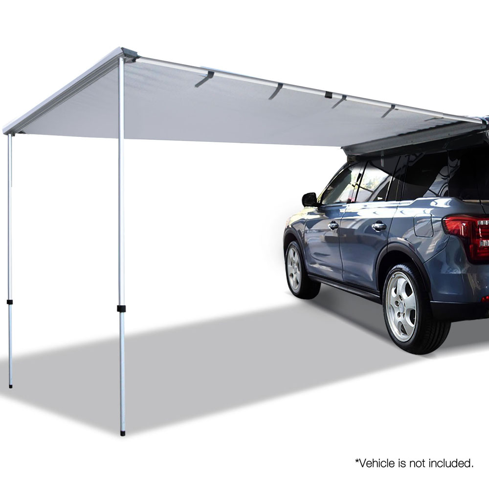 Weisshorn Car Shade Awning 2 x 3m - Grey - BestSunProtect ...